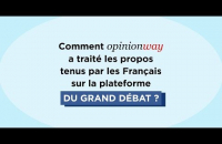 Comment OpinionWay a-t-il analysé les contributions du Grand Débat National ?